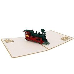 SICAK El Yapımı 3D Pop Up Sen Her Durum Tren için Kart Tebrik ederiz nereden