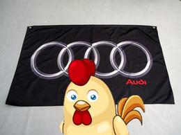 materiales de llavero al por mayor Rebajas Audi Racing 90 * 150CM bandera, 100% poliéster audi banner, 100% poliéster 90 * 150 cm, impresión digital