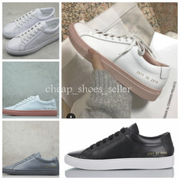 2e5625263f5 chaussure sport femme Promo Codes - 2019 Common Projects by women Black  white trainers low Shoes