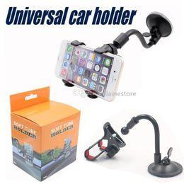 подлокотник Скидка Автомобильное крепление с длинным рукавом Универсальный лобовое стекло Приборная панель Мобильный телефон Автомобильный держатель на 360 градусов Автомобильный держатель с сильной присоской X Зажим
