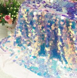 multicolore tessuto di sequin Sconti laser a colori 45 * scala di pesci di pizzo perline paillettes abito tessuto panno di DIY tessuti per la casa di nozze 130 centimetri crittografia maglia manichino C583 tessuto