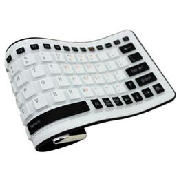 2019 tabletas de piel clara Venta al por mayor nuevo teclado impermeable de silicona inalámbrico Bluetooth Soft Fashion Mix Color teclados portátiles flexibles para computadora portátil
