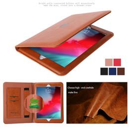 2019 estuche antichoque ipad air Funda para iPad Funda ultrafina elegante de cuero genuino para Mini1234 / Air Air2 / Pro10.5 / Pro9.7 / iPad 234 Pro12.9 / Pro 11 / air 3 2019