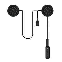 Motor Kablosuz Bluetooth Kulaklık Motosiklet Kask Kulaklık Kulaklık Hoparlör Handsfree Mic Müzik Alıcısı ile Smartphone Için USB Şarj nereden kask mic tedarikçiler
