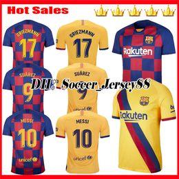 Jersey 17 kit online-2019 2020 GRIEZMANN 17 Barcelona Messi Maglie da calcio SUAREZ MALCOM kit per bambini maillot de foot maglie PIQUE Vidal Dembele maglie da calcio