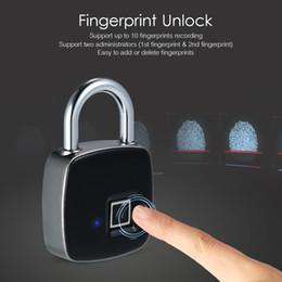 Portes ip65 en Ligne-Serrure d'empreinte digitale intelligente sans clé rechargeable USB IP65 étanche anti-vol de sécurité cadenas porte cas de bagages