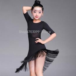 Modèles enfants modèles de filles noires en Ligne-2019 nouveaux modèles Enfants Enfant Filles Robe De Danse Latine Fringe Danse Latine Vêtements Costume De Salsa Noir Rouge Salle De Bal Tango Robes