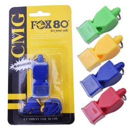 Neu kommen samenlose Plastikpfeife der Pfeife FOX80 Berufsfußballreferentpfeife im Freiengeräte 4 Farben an freies Verschiffen von Fabrikanten