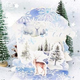 decorazione del diario scolastico Sconti 45 Pz / set kawaii notebook moda carino Foresta modello alce Pianificatore diario decorazioni natalizie materiale scolastico di cancelleria