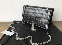 2020 bolsa de crocodilo genuína Designer de Bolsas Femininas Bolsas de Ombro Clássico de Couro Genuíno linhas de pele de Crocodilo Designer de Luxo Bolsas Bolsas Diagonal Pacote bolsa de crocodilo genuína barato