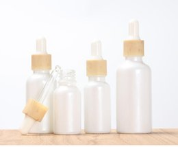 Dropper per bottiglia essenziale dell'olio online-15ml 30ml 50ml bottiglia glassato bianco ambrato di vetro contagocce con Cap 1 oncia di vetro bottiglia di olio essenziale