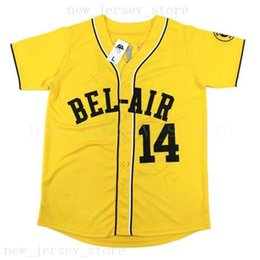 fresh shirts Coupons - Mens The Fresh Prince of Bel-Air Academy #14 Will Smith Baseball Jerseys Yellow Cheap Stitched Smith Baseball Jersey Shirt