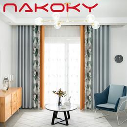 tende oscuranti grigio Sconti Nuove tende oscuranti grigio ciechi semplice blackout europeo delle tende geometrica soggiorno camera da letto di colore solido