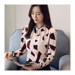 67056f2295c new arrived 2019 spring blouse printed clothing female long sleeve chiffon  shirt women fashion simple style tops