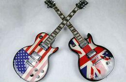 ¡¡Caliente!! Guitarra eléctrica estilo bandera americana con bandera americana. desde fabricantes