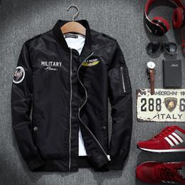 2019 giacca ad aria calda New Ma1 Bomber Jacket Jaqueta Masculina Air Force 1 Uomo Giacche e Cappotti Veste Manteau Homme Giacca Softshell militare pilota Vendita calda sconti giacca ad aria calda