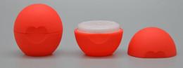 Envase cosmético en blanco de la bola Contenedor 7g Bálsamo labial Tarro Lustre Crema Caso de la muestra Envío Gratis desde fabricantes