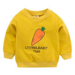 c1b3f523afa06 sweat-shirt jaune bébé Promotion Vêtements pour enfants Arrivée Bébé Filles  Garçons Sweatshirts Printemps Automne