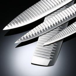 Bâton boîtier en métal en Ligne-6pcs / set couteau de cuisine lames anti-adhésives couteau Set couteau à fruits cuisine chef professionnel avec étui de rangement couteaux du chef Set avec pe en céramique
