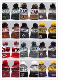 e3424b4cd 2019 New Arrival Beanies Hats American Football 32 teams Beanies Sports  winter side line knit caps Beanie Knitted Hats drop shippping