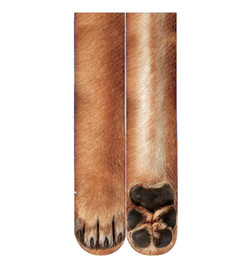 CW01900012 Sıcak Satış Moda 3d baskı hayvan ayak çorap yetişkin dijital baskı çorap Unisex Yetişkin Hayvan çorap nereden atkı askısı tedarikçiler