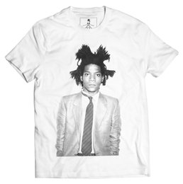 ae7a0706a Jean Michel Basquiat Art Graffiti Designer Fashion Street Wear Graphic T- Shirt size discout hot new tshirt