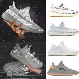 new product 82b02 90968 adidas yeezy boost 350 v2 Static 3 M Manteiga Reflexiva Zebra Sesame Beluga  Bule Tint triplo branco running shoes mens sports sports sneaker formadores  ...