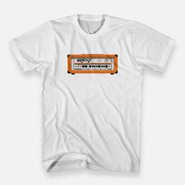 Camiseta branca laranja on-line-O CR120H Amps Laranja Algodão T-shirt Sz S-3XL T-shirt dos homens Brancos tamanho discout hot nova camiseta top frete grátis t-shirt