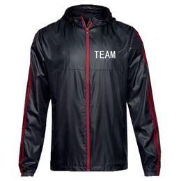 Модный дизайнер мужской спортивный бренд команды куртка клуб ветровка весна спортивная куртка с рисунком печати молния с капюшоном работает одежда от
