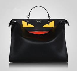 дизайнерская сумочка для женщин черный Скидка Handbags Women Bags Designer Large Monster Bags Men Women High Quality Leather Black Totes Famous Men's Laptop