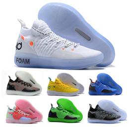 the best attitude 88234 799cd 2019 chaussures kd rouge bon marché Kd 11 Chaussure De Basket-ball Baskets  Hommes Femmes