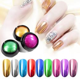 Glitter fornecedores on-line-0.5 g / box 12 cores espelho de metal glitter nail art uv gel polonês cromo poeira pigmento decoração manicure ferramenta atacado fornecedor