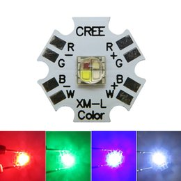 lampara led cuentas blanco frio Rebajas 12W RGBW RGB Blanca 4-Chip LED de alta potencia Rojo Verde Azul Multicolor Luz