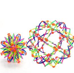 32cm große schrumpfende Kugel, die teleskopische Kugel-Spielzeug-magische bunte Blumen-Kugeln blüht, die größeres und kleineres Geschenk für Kinder werden von Fabrikanten