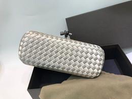 bolsa de porcelana Desconto seda de alta qualidade com saco de cluth de couro real famoso saco de noite desinger 87