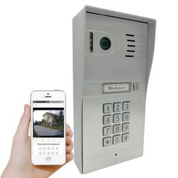 Sistema de intercomunicación a control remoto online-Wifi inalámbrico Videoportero IP Videoportero Cámara Timbre SmartPhone Control remoto IP Timbre inteligente mediante el sistema ISO Andrio Tabletas