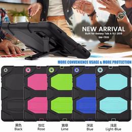 Tavoletta pesante online-2019 Per Samsung Galaxy Tab T510 Tablet da 10.1 pollici Militare Extreme Heavy Duty Antiurto CASE Con Screen Protector Cavalletto Stand Custodia