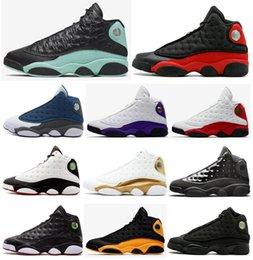 scarpe da basket melo Sconti Nuovo 13 Green Island Bred Chicago Flint donne degli uomini dei pattini di pallacanestro 13s He got game Melo DMP Playoff Hyper Reale Sneakers con la scatola