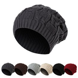 325dbfe00ea Korean version the chain knitted hat for men and women double wool hat  baseball cap autumn and winter warm beanies hat