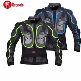 Ropa de armadura online-Motocross profesional Off-Road Protector de la motocicleta de cuerpo completo Chaqueta de la armadura de la moto Ropa de engranajes de protección 6 tamaños