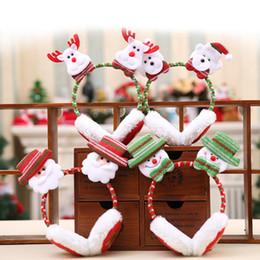 2019 chauffe-jouet adulte Motif De Père Noël De Noël Chaud Cache-oreilles Pour Adultes Enfants Cadeaux Décoration De Noël Jouets Du Nouvel An