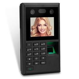 Máquinas de relógio on-line-2.8 polegadas Fingerprint Access Control Facial Reconhecimento Facial Biométrico de Comparecimento da Impressão Digital Máquina de Relógio de Tempo USB NO Software