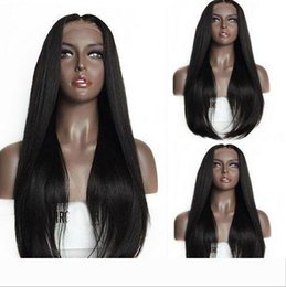 capelli umani vergini naturali glueless diritta piena del merletto anteriore parrucca 1b # fuori dal nero di densità 150% per la donna da parrucche dei capelli umani di lunghezza della miscela fornitori