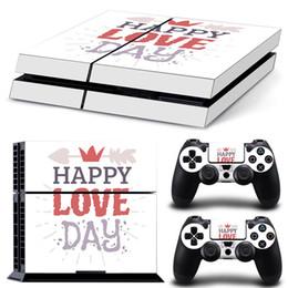 Bonne journée couverture en Ligne-Peaux Playstation 4 pour Happy Valentine's Day Couverture PS4 Plus Console de protection Console Contrôleur Bon Enfants Amis Cadeau