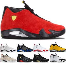 2019 обувь для обуви 14 мужская баскетбольная обувь 14s Candy Cane черный белый желтый красный песок пустыни DMP Мужские спортивные спортивные кроссовки размер 8-13 оптом дешево обувь для обуви