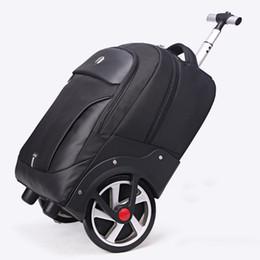Освещение онлайн-Новый дизайн тележки прокатки багажа большие колеса поездки сумка путешествия мужчины / женщины большой емкости чемодан свет интернат valise