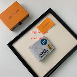 homem pequeno pequeno branco Desconto 2019 marca de moda carteira branca portátil Dobrável Terno clipe homens carteiras bolsas bolsas mulheres titular do cartão Pequeno Saco de Bolso ABD-12