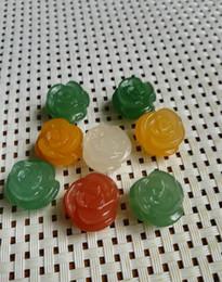 pedras de jade vermelhas soltas Desconto China natural colorido pingente de jade entrega gratuita F1