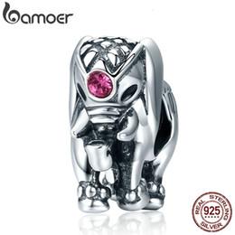 2020 925 jóias de prata tailândia BAMOER Voar Dumbo Beads 100% 925 Sterling Silver Tailândia Lucky Elephant encantos caber Mulheres Pulseiras Fine Jewelry SCC321 CJ191116 925 jóias de prata tailândia barato