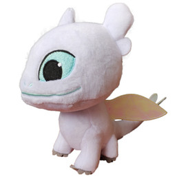 Pellicola del giocattolo online-Come addestrare il tuo drago 3 Peluche 2019 Nuovo film Luce senza denti Fury Morbido Drago ripiene Doll Christmas Gif C